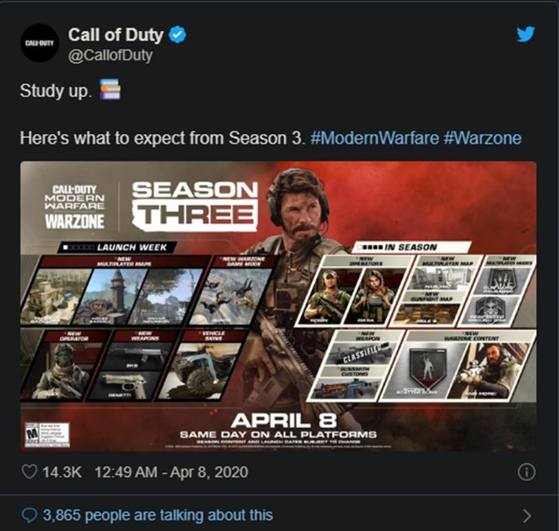 เผยรายละเอียดข้อมูล Call of Duty : Modern Warfare season 3 ข้อมูล ความรู้ ข่าวสาร Game Online E-sports